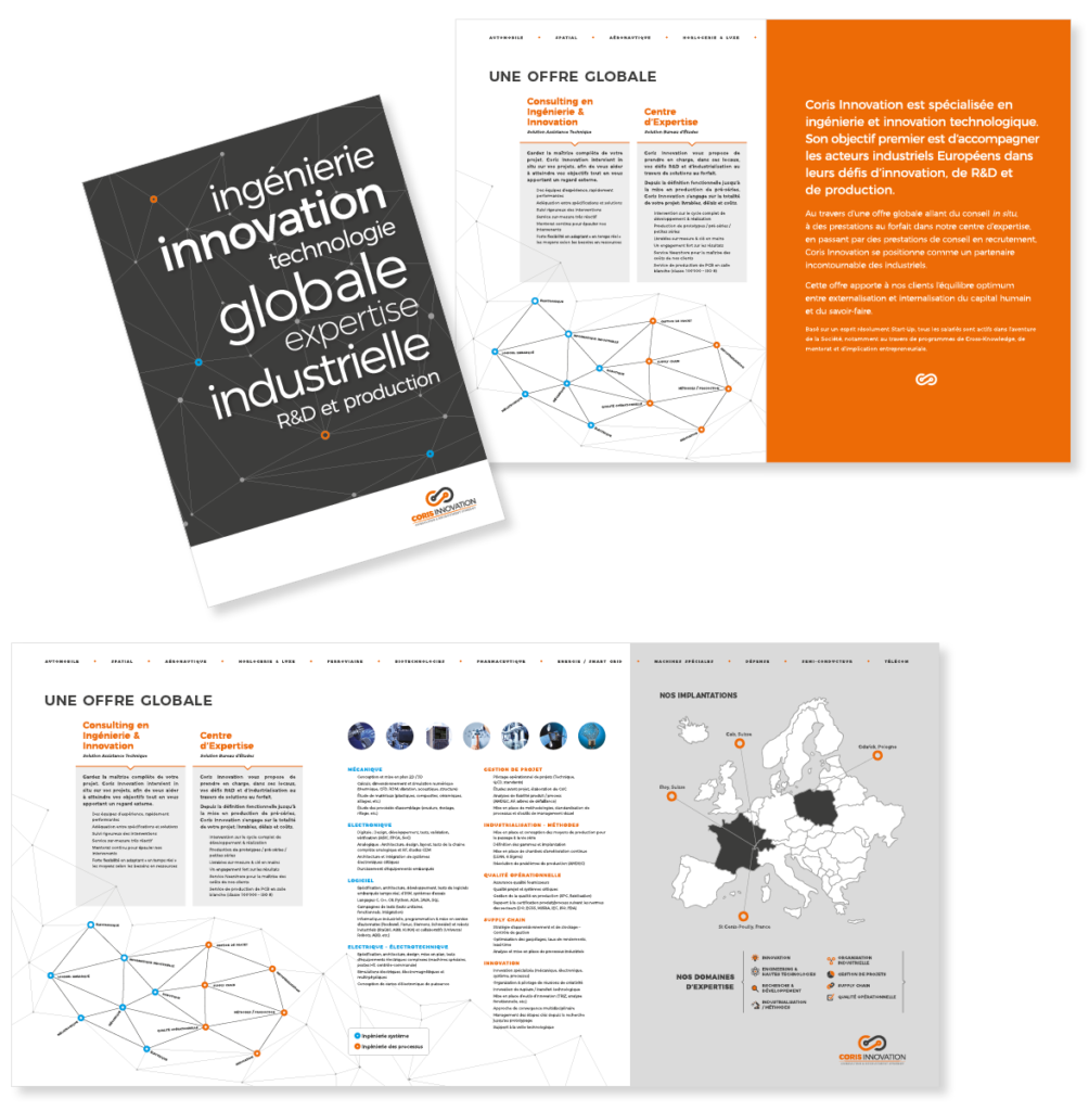 Portfolio CORIS INNOVATION Brochure Layout