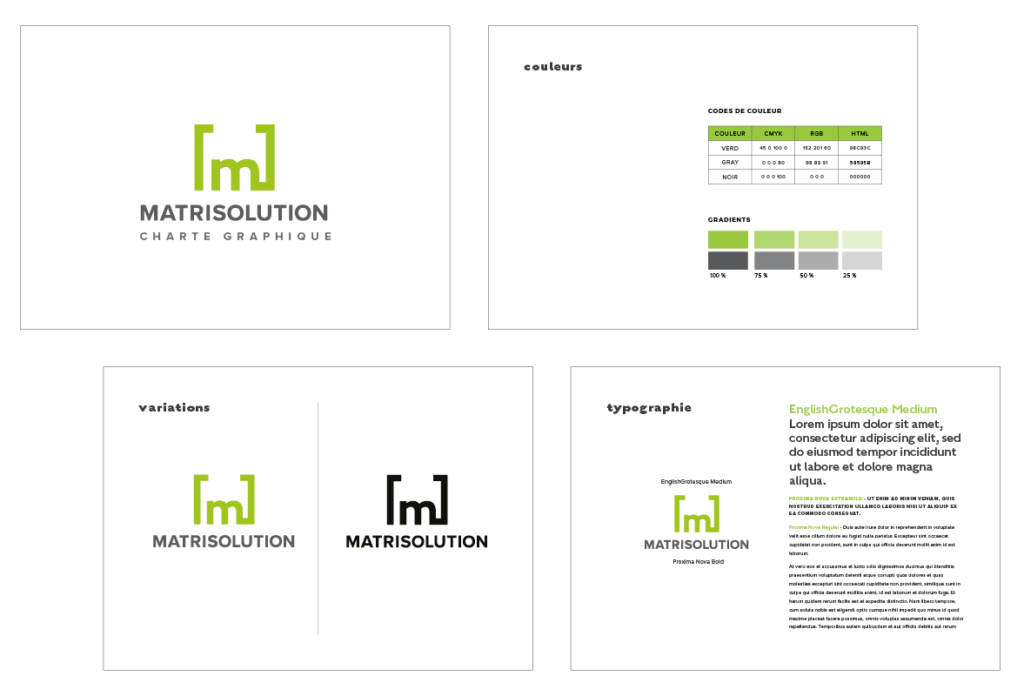 Portfolio MATRISOLUTION Graphic Chart