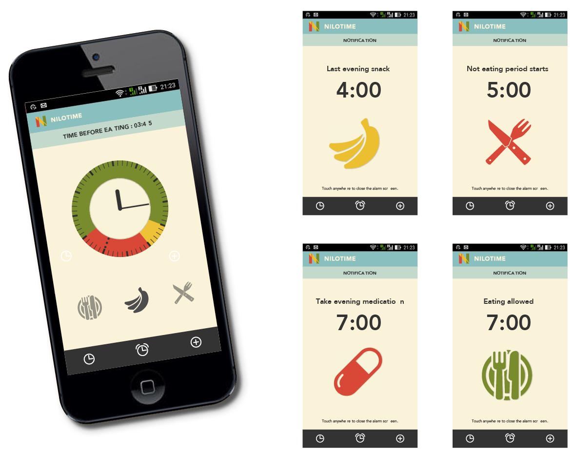 Portfolio NILO App layout UX UI